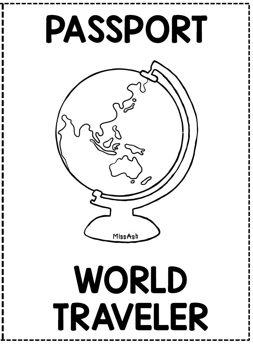 World Traveler Passport Template