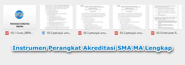 Instrumen Perangkat Akreditasi SMA MA Lengkap