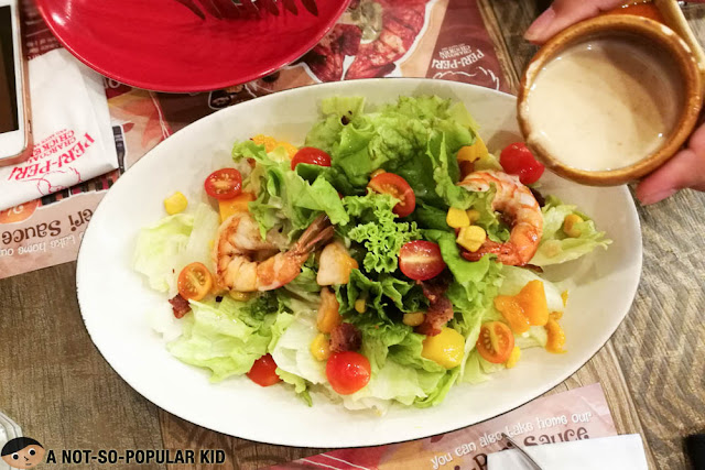 Shrimp salad of Peri Peri Chicken