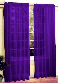 Dark purple curtains