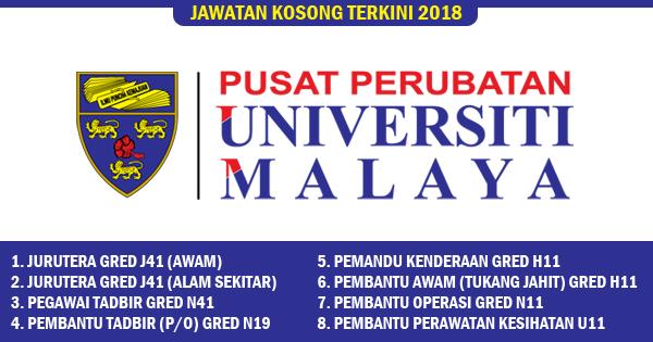 jawatan kosong 2018 universiti malaya