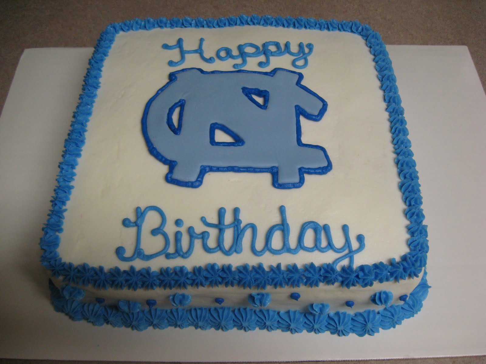 Delectable Sweets by the Smiths UNC Birthday Cake