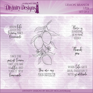 Divinity Designs Stamp Set: Lemon Branch