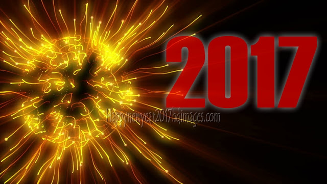 Happy New Year 2017 Full HD Desktop Images With Sparkling Background