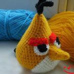 patron gratis pajaro amarillo angry bird amigurumi | free amiguru pattern yellow bird angry bird