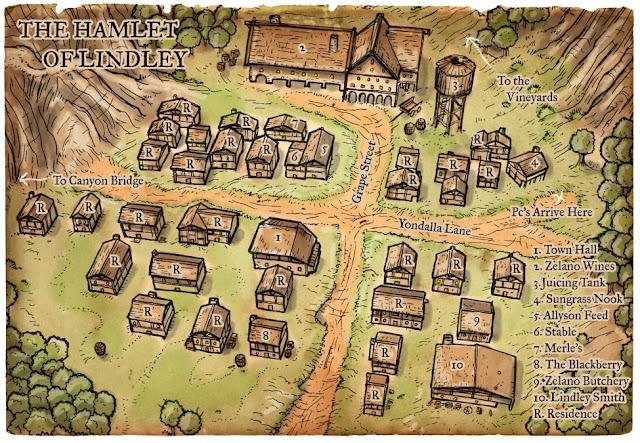 Se for a sua primeira aventura, crie um problema numa comunidade pequena e tente fazer com que os jogadores o resolvam.