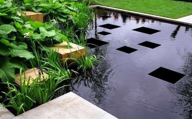 Зеркальный пруд в стиле модерн