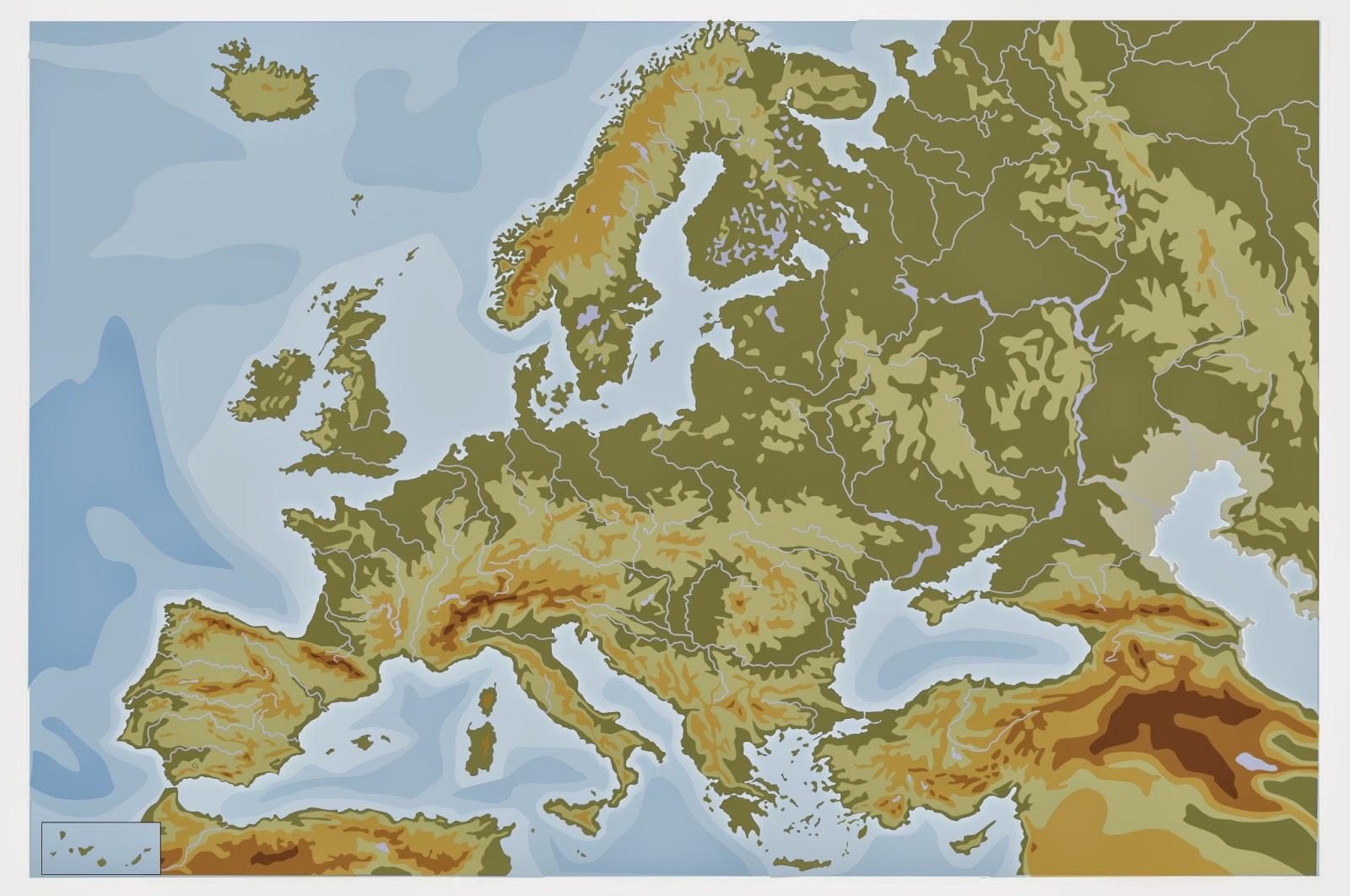 Mapa Mudo Fisico Europa Pdf.2º Ciclo Primaria Mapas De Europa