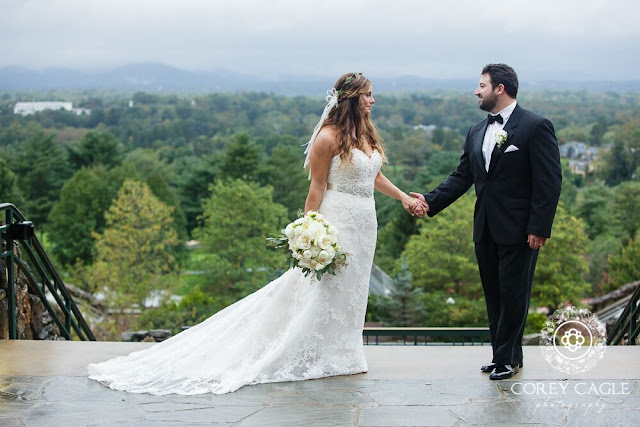 Bride and Groom in the Blue Ridge Mountains | Corey Cagle Photography