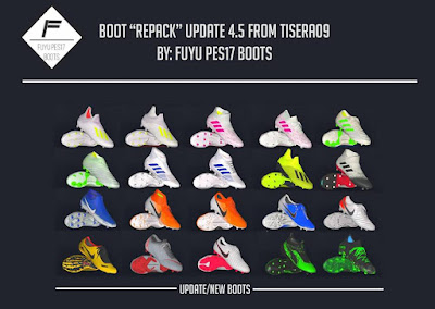 PES 2017 Boot Repack v4.5 by FuyuPES17 Boots