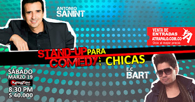 Stand up comedy para las chicas con Antonio Sanint