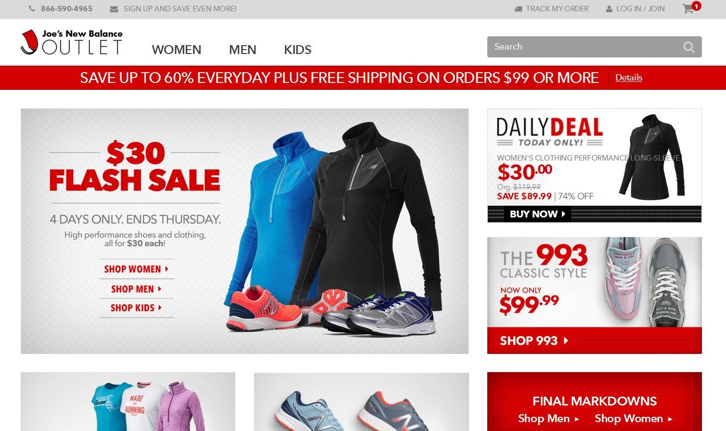 efcb3581f К счастью, существует аутлет New Balance joesnewbalanceoutlet.com, где  можно найти обувь и одежду со значительными скидками.