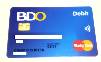 how to know the account number of bdo atm card