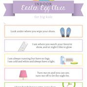 INDOOR Easter Egg Hunt Clues Printable