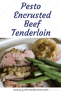 Pesto Encrusted Beef Tenderloin