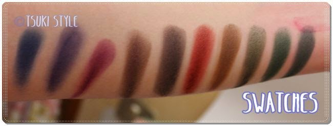 swatches scurissimi neve cosmetics