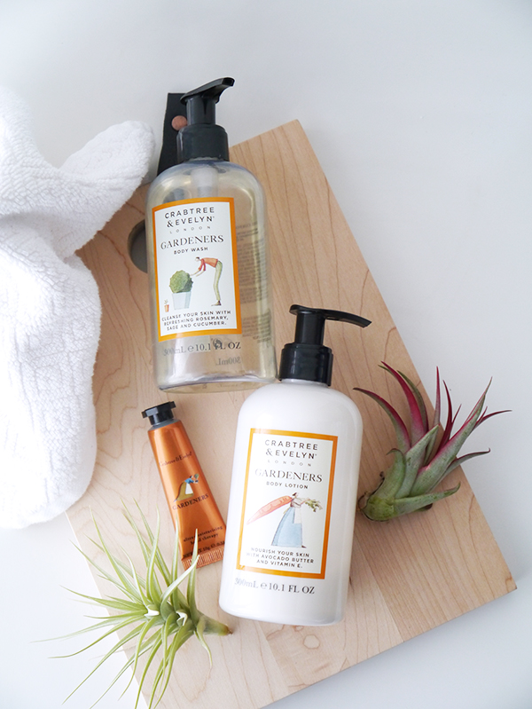 Crabtree & Evelyn Gardeners Body Wash and Body Lotion