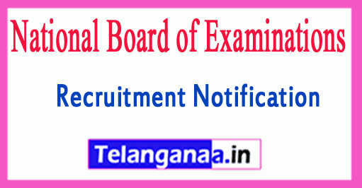 National Board of Examinations NBE Recruitment Notification