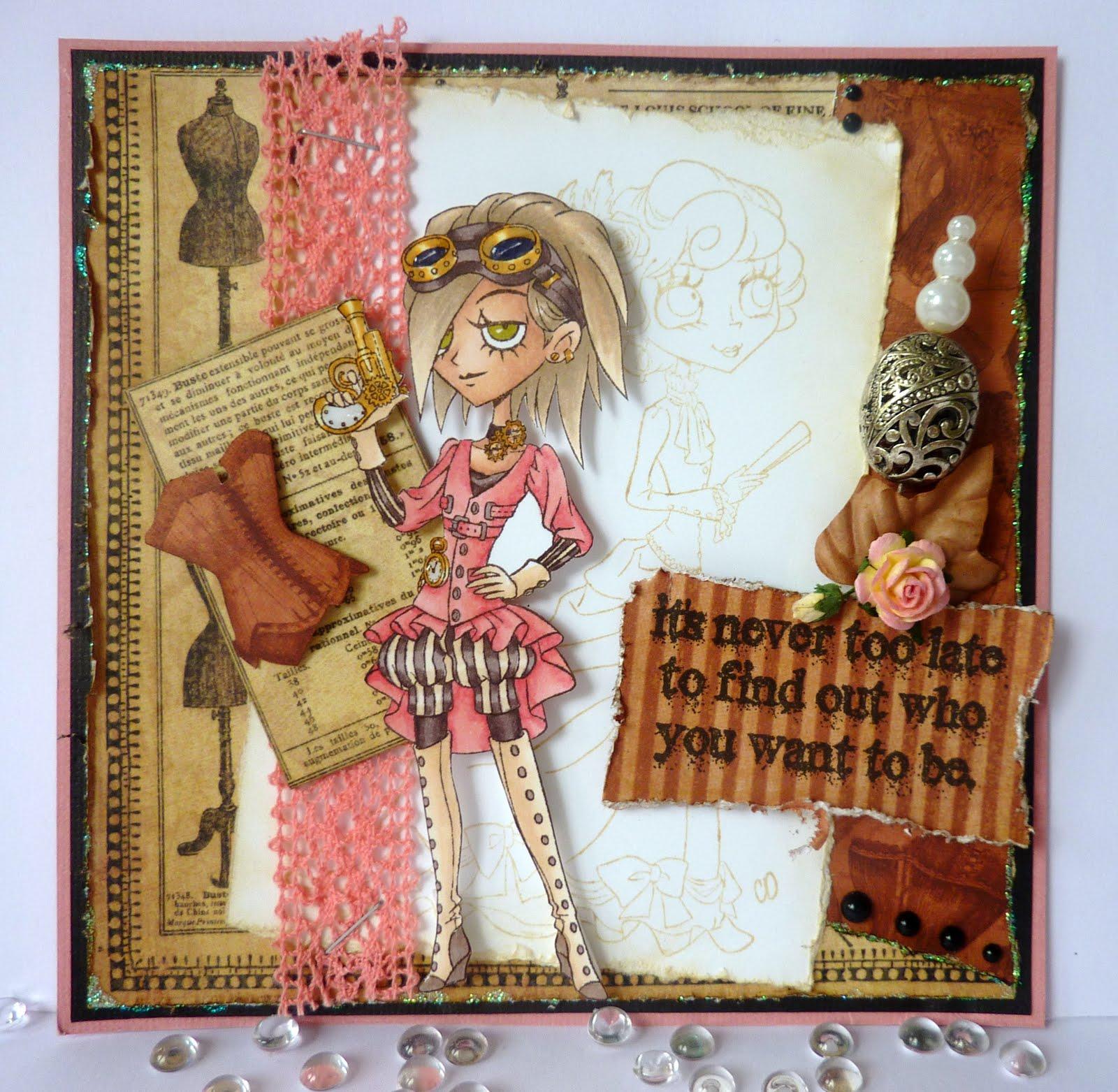 Jane S Lovely Cards Tickled Pink Stamps Dt