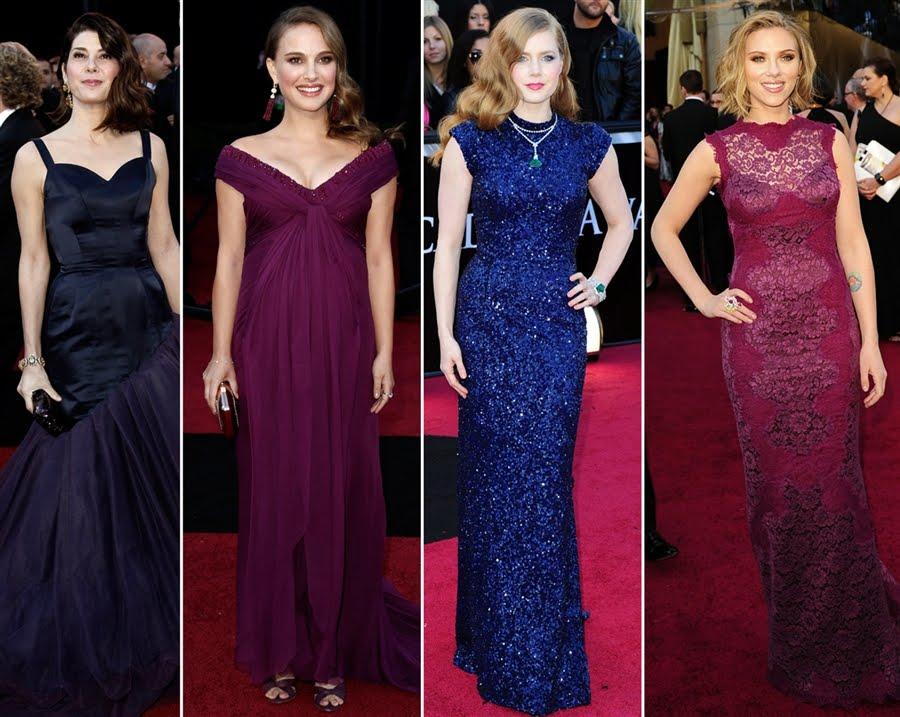 Merci new york oscar 2011 tresses vs dresses a wedding - Jewel tones color wheel ...