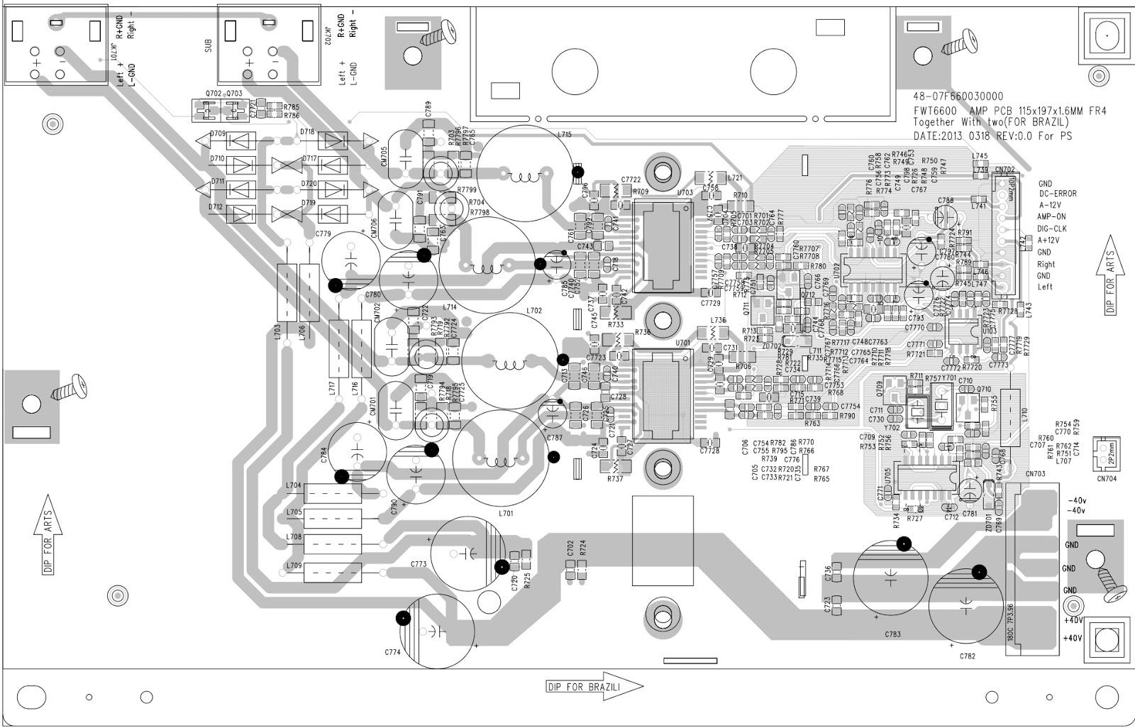 Philips Fwt Mini Hi Fi System Amplifier And Main Board