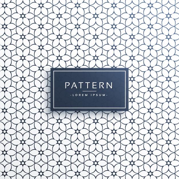 Stylish flower line pattern background Free Vector