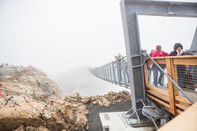 Peak Suspension Bridge in the clouds