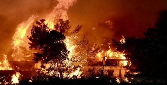 Με αφορμή μια πυρκαγιά, του Γιάννη Ανδρουλιδάκη