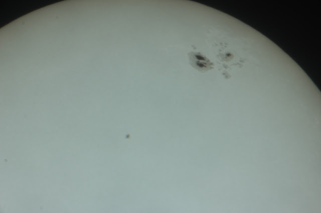 View of the Sun through a home made solar filter