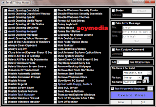 Cara Mudah Membuat Virus Menggunakan Software Terabyte Virus Maker