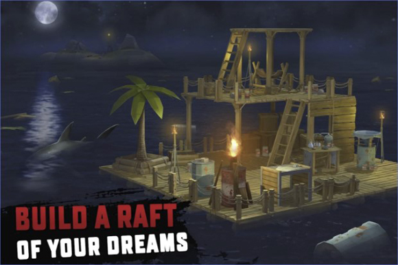 RAFT Original Survival Game Mod Apk Unlimited Money Terbaru