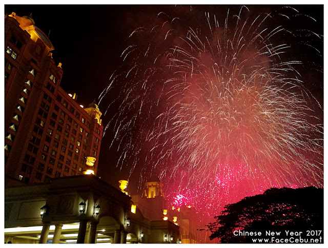 Grand fireworks display at the main entrance