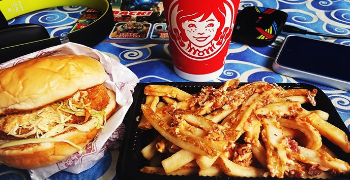 Wendy's snack burger and fries