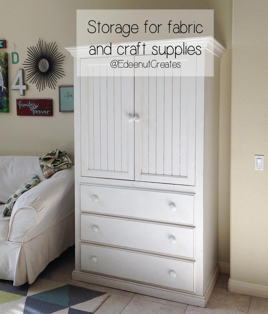 Sewing And Craft Room Storage Ideas Edeenut Creates