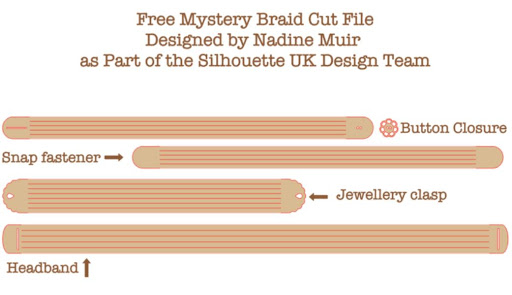 Faux leather mystery braid free Silhouette cut file by Nadine Muir for UK Silhouette Blog