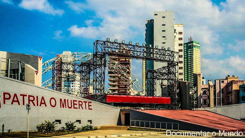 Tribuna Anti-imperialista José Martí; Oficina de Intereses de los Estados Unidos; Malecón; Havana; Cuba