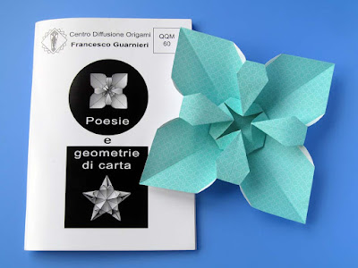 Origami, booklet QQM 60 and Fiore quadrato - Square Flower © by Francesco Guarnieri