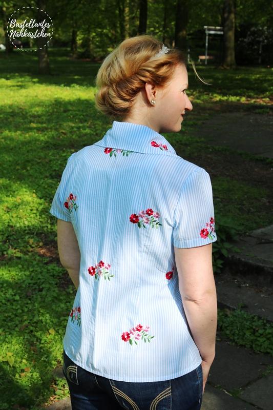 Bluse Sivas von Schnittquelle aus Baumwolle mit gestickten Blumen