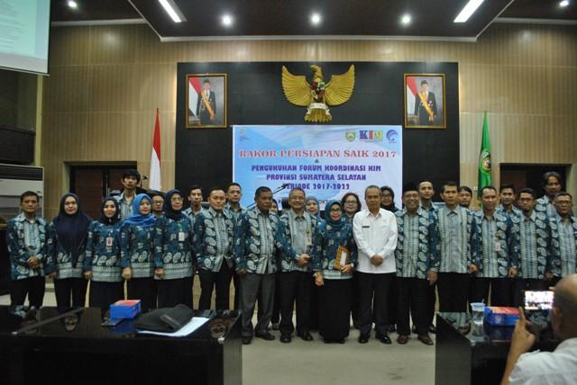 KIM Provinsi Sumatera Selatan Periode Tahun 2017 – 2022 Dikukuhkan