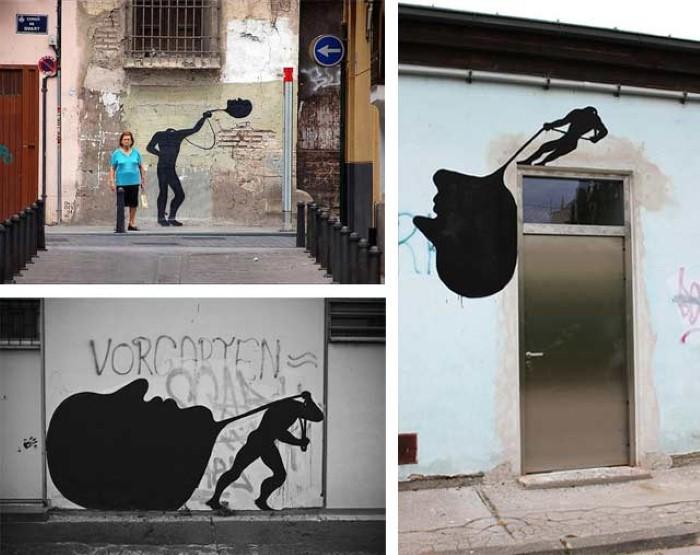 Фотографии работ уличного художника. Sam3 33