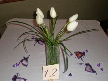 Centros de Mesa, Tulipanes Blancos