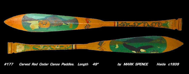Paddles carved first nations art