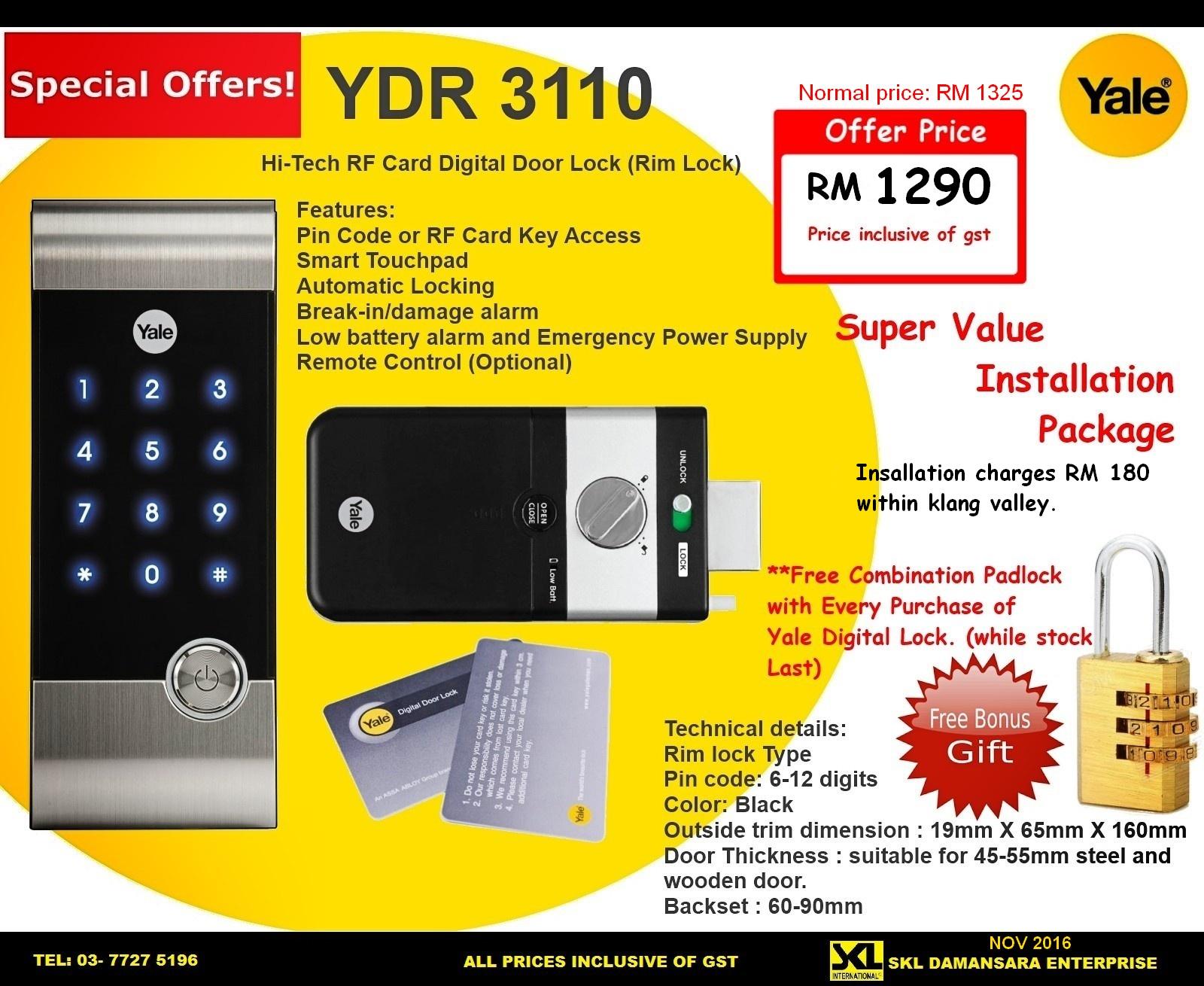 Yale Ydr 3110 Digital Rim Lock On Pr End 6 15 2018 5 15 Pm