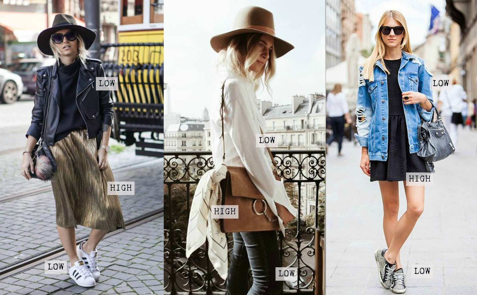 High & low: A new way to dress - Street style inspiration