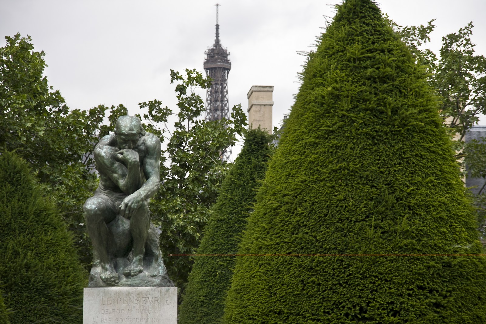 Offshore winds a moment in the life of the jardin de rodin 39 s odd statues - Statue jardin ...