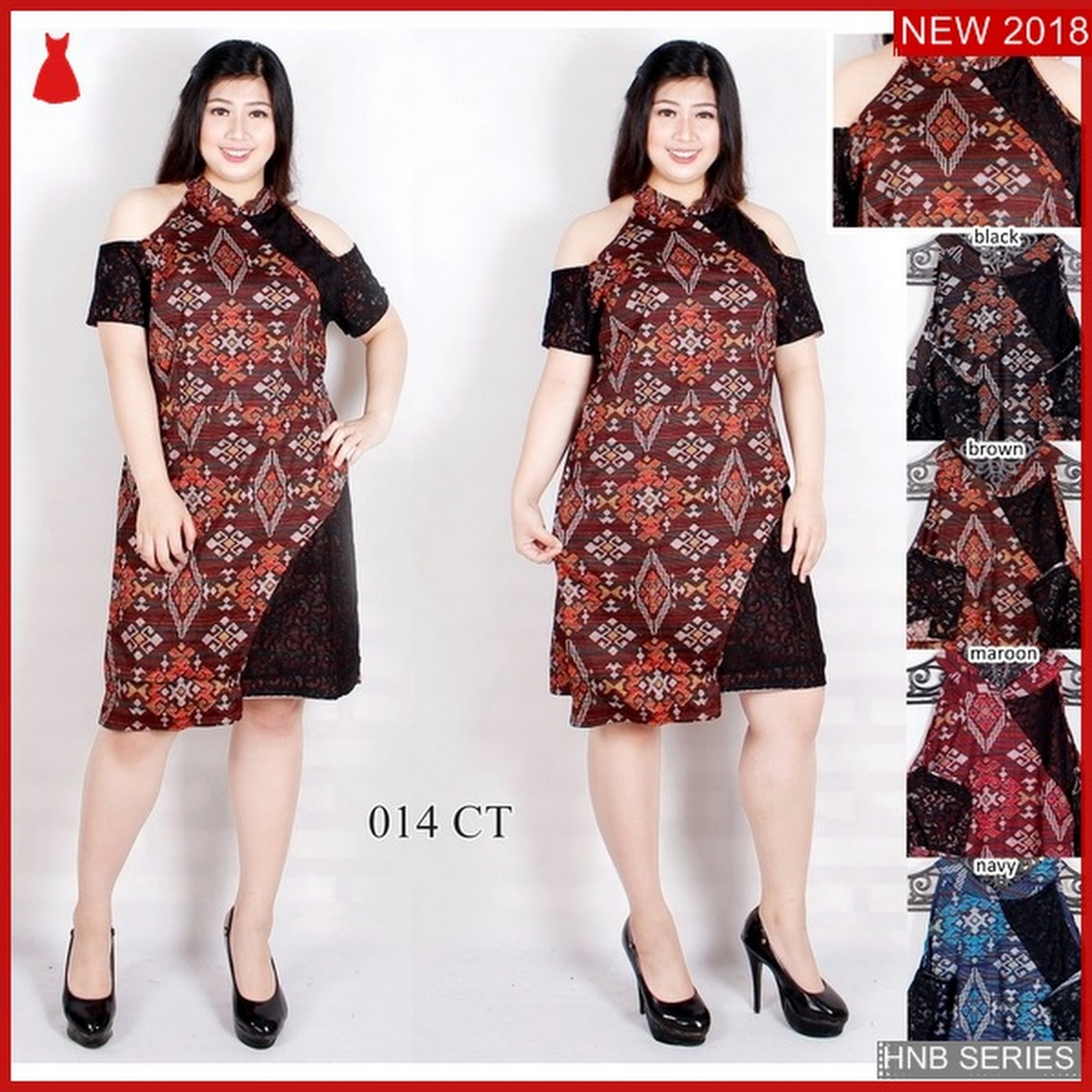 Hnb164 Model Baju Ukuran Besar Jumbo Dress Layer Bmg Shop