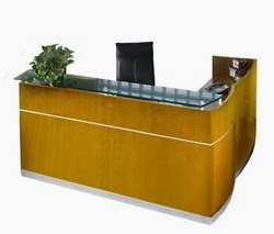 L Shaped Napoli Reception Desk