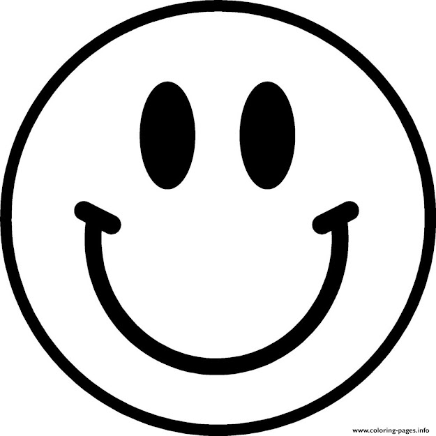 Print Smile Emoji Coloring Pages
