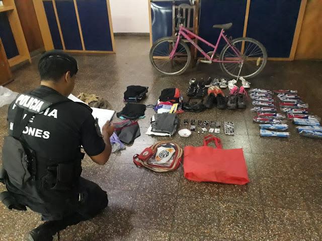 Posadas : Recuperaron una bicicleta y otros objetos: hay un detenido