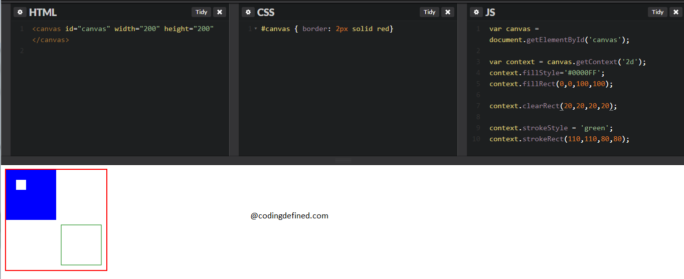 Beginning with Canvas element in HTML5 - Coding Defined